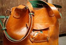 Accessories. Leather bags