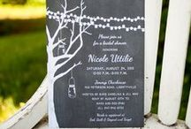 Rustic Wedding Shower and Bridal Shower Invitations