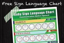 Sign language charts / Sign language charts