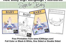 Sign language flash cards / ASL flash cards are great for baby sign language and learning sign language