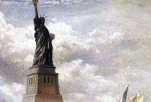 New York - Statue of Liberty / A magnificent sight standing in New York Harbor giving light and hope to all who see her.