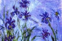 Monet / The beauty of Monet's paintings are timeless. His fabulous series of Iris flowers was the inspiration for my Daughter's name. This board is a wonderful way to share some of those works.