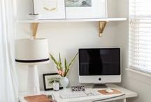 ideas for desk/office. / Beautiful work spaces. / by Alba C