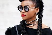 Black Hair Inspiration / Gorgeous hair styles for black women. Natural hair | Protective styles | Braids | Cornrows | Feed in cornrows | Crochet braids | weaves | sew-ins | Buns | Bobs | Long bobs | Kinky hair | Kinky twist | Twist