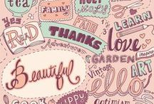 Typography | Lettering / The prettiest typography, hand lettering, and anything beautiful with words on it