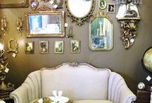 Mirrors to my mind / Retro and vintage mirrors are a favourite collectable of mine. They have great shapes and an enduring style.  They add light  and an instant touch of glamour to any room. Here are a few ideas for using mirrors to good effect.