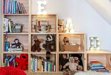 Reading Corners / Comfy and Cozy kid-size corners for reading time.