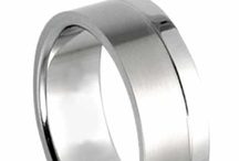 Wholesale Titanium Jewelry / Titanium Ring With Matte Finish and a Shiny Stripe at the Bottom. An outstanding collection of Wholesale Titanium Jewelry by AAB Steel.