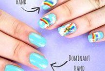 NAIL ART tricks and designs / Nail art designs, inspirations, patterns, galaxy, unicorn, rainbow, moro and more :)