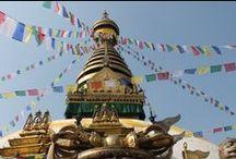 Monkey Temple Kathmandu, Nepal / Monkey Temple< Buddhist Temple High up on a hill overlooking  Kathmandu.