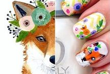 NAILS: animal cuteness / Nail art inspirations with fox, rabbit, deer, Bambi. Cuteness mostly! <3