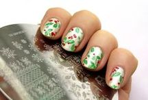 Winter an Christmas nail art