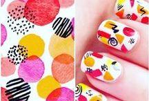 NAILS: Geometric / Geometric nails - nail art inspirations Art deco, stripes, shapes, chevron, lines, vinyls, triangles, azteck aztec prints, plaid,