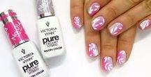 NAILS: Hybrydy, gel polish / hybrydy, manicure hybrydowy, żele,  Indigo, Victoria Vynn pyłki, efekty, zdobienia paznokci, stylizacje paznokci
