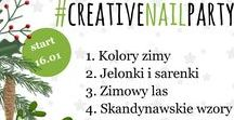 WINTER #CreativeNailParty challenge nail art inspirations / nail art challenge  nail art inspirations and designs winter theme - scandinavian, winter forest, winter colors, deer, raindeer, blue nails, snowflakes