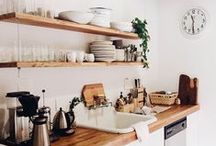 Kitchen Love / I love my kitchen and one day we will renovate and make it even better, these are my dream kitchen spaces.