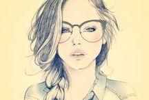 ♥Drawings♥ / Rajzok,rajzok hátán....