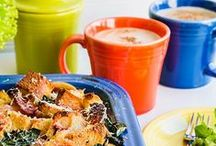 Brunch / Brunch should include colorful food and colorful dishes, laughter and satisfied guests.