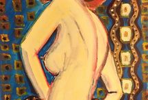 Figure art / Gina Axlund's artwork. All works are for sale. Contact me for price.