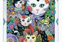 Creative Kittens / Mischievous, adorable, sweet, and funny kittens! They're hard to resist. This coloring book has nearly everything, from cowboys to cupcakes, and ballet to birdhouses. Frisky felines are displayed in all kinds of situations, capturing their playful spirit. Release date: Spring 2017