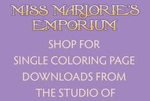 Miss Marjorie's Emporium / Shop for single page downloads from the studio of Marjorie Sarnat. Only $1 each, and with any order of $4 or more you get a 25% discount on your entire order.