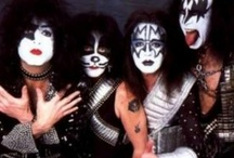 ♬ KISS ♬ / KISS is an American rock band formed in New York City in January 1973. Well known for its members' black and white face paint and flamboyant stage outfits, the group rose to prominence in the mid to late 1970s on the basis of their elaborate live performances, which featured fire breathing, blood spitting, smoking guitars, shooting rockets, levitating drum kits and pyrotechnics. / by Paul Davis
