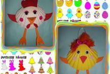Pâques activités et gâteaux / les activités réalisés pour Pâques avec les enfants chez nounoudunord