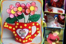 Printemps fleurs activités manuelles / Les activités manuelles sur le printemps chez nounoudunord