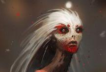 SERES IMAGINARIOS/ IMAGINARY BEINGS /  Criatura , Alien , Monstruo ...