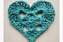 Crochet hearts / Crocheted hearts, crochet heart patterns