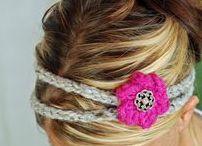 Crochet headbands / Crocheted headbands, crochet headband patterns, crochet baby headbands