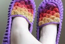 Crochet slippers & socks / Crocheted slippers and socks, crochet socks pattern, crochet slippers pattern
