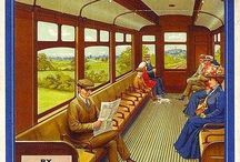 Vintage train travel / Images of nineteenth century train travel in Britain