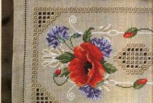 Hardenger with cross stitch