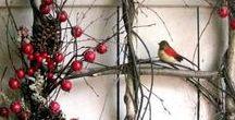 Noël / Idées de décorations végétales à partir de matériaux naturels issu du jardin. #Noel #déco #table #nature