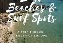 Best Beaches & Surf Spots / Beautiful beaches & surf spots on our trip through the south of Europe: Portugal, France, Spain https://blog.2b-local.com #2BLOCAL