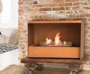 Steampunk - Bioethanol loft-style fireplace