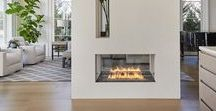 4 Sided Bioethanol fireplace in the middle of the living room