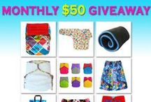 Cloth Diaper Giveaways / Enter to win EcoAble Cloth Diapers and accessories. We host monthly giveaway for $50 Gift Certificate