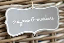 Label Inspiration / Home Organizing and Labeling
