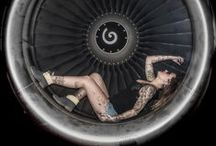 airplane Engine / shooting in or with airplane engine and model