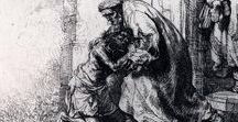 Rembrandt van Rijn / Gravuras, Desenhos e Pinturas do pintor holandês