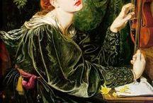 Dante Gabriel Rosseti / pintor pré raphaelita inglês e inspirações