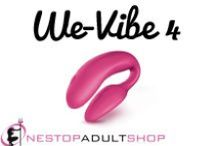 We-Vibe 4 / The We-Vibe 4 is the fourth is a range of couples' vibrators. The fourth in the range varies in size, texture and functionality. The new design is both more comfortable and 40% more powerful than its predecessor. The We-Vibe 4 also comes with a ridged middle section that connects the two arms, allowing for a more comfortable fit. With the addition of a new mode of vibration called 'Echo' you and you partner will be experiencing what modern pleasure is all about. Please enjoy our We-Vibe 4 pins. / by OneStop AdultShop
