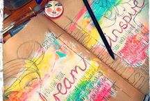 Journal & Scrapbook / Journaling ideas, layout, media & inspiration
