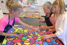 Kunst in der Schule / Art Class / Art is one of my favourite subjects to teach. Alas, so much to do and so little time...