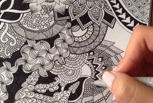 Zentangle Pictures / Zentangle patterns turning into pictures.