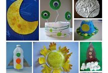 Basteln / Crafting with kids / Beautiful and fun crafting ideas for kids.