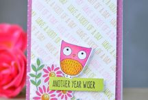 Owls, owls, owls / I do love my owl punch from Stampin Up. It's extremely versatile. But there are also lots more great owls out there!