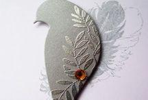 Embossing / Make beautiful cards using embossing folders or heat embossing. Lots of ideas here.